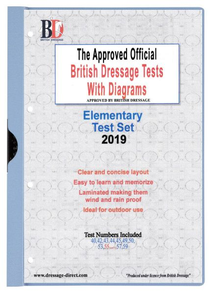 2019 ELEMENTARY TEST SET: Official British Dressage Tests with Diagrams